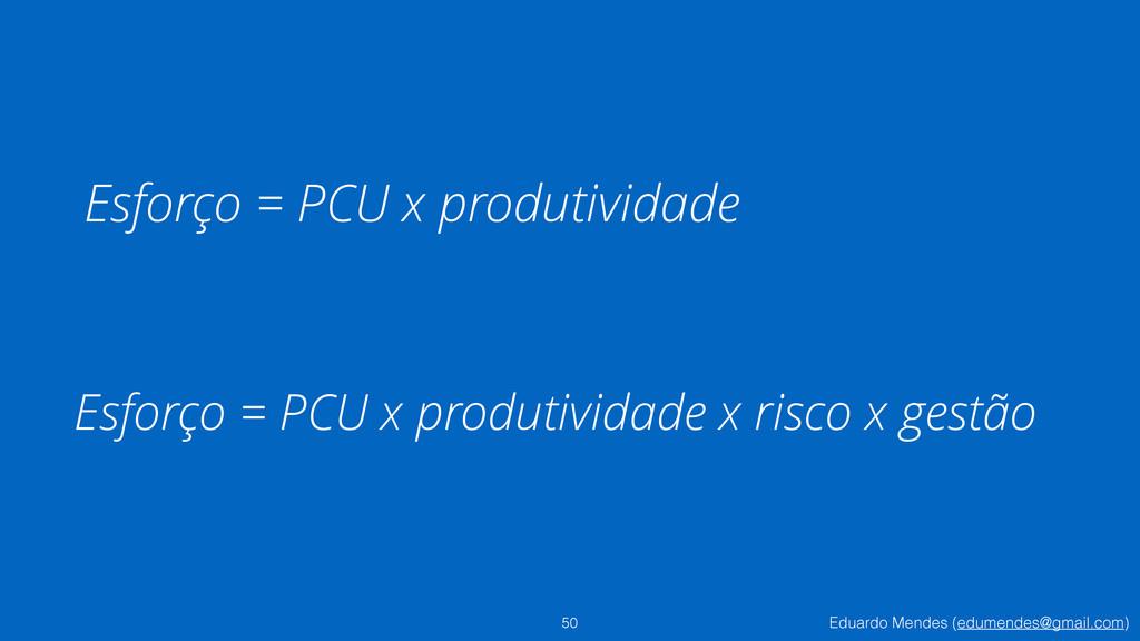 Eduardo Mendes (edumendes@gmail.com) Esforço = ...