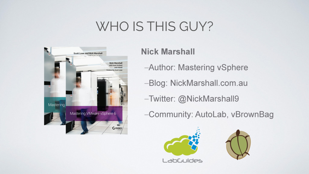 WHO IS THIS GUY? Nick Marshall –Author: Masteri...