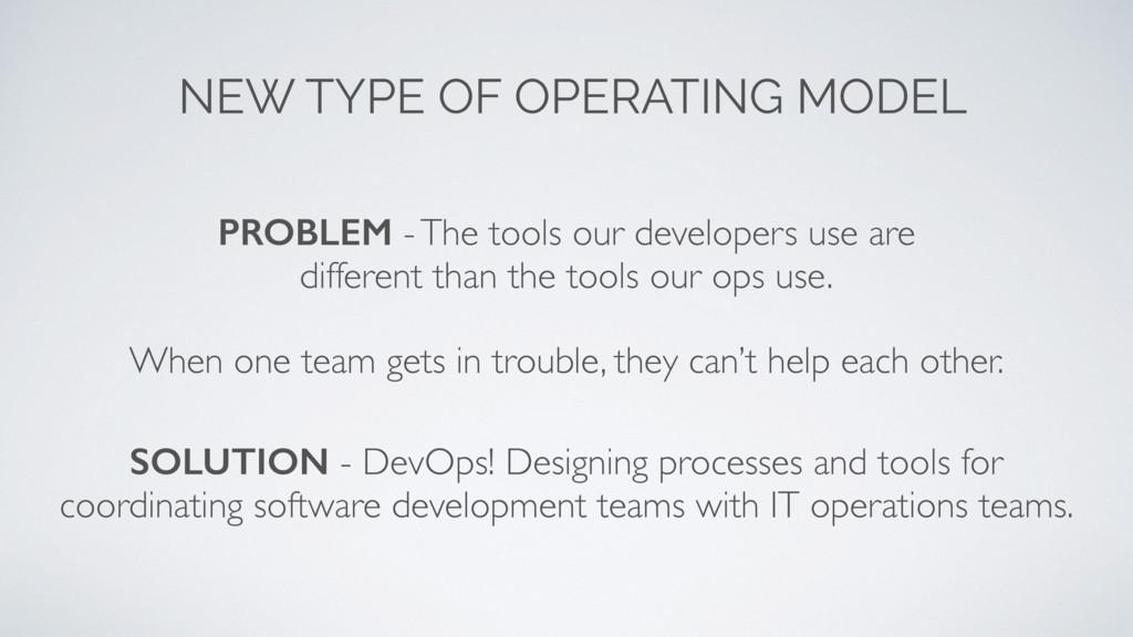 NEW TYPE OF OPERATING MODEL SOLUTION - DevOps! ...