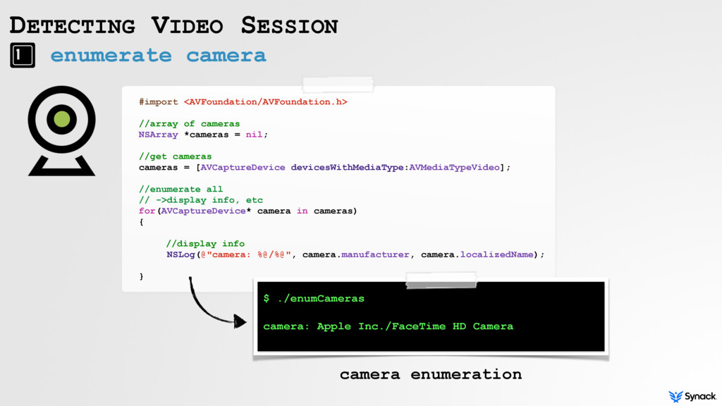 enumerate camera DETECTING VIDEO SESSION #impor...