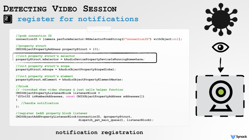 register for notifications DETECTING VIDEO SESS...