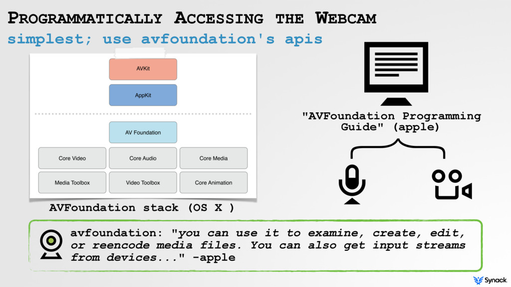simplest; use avfoundation's apis PROGRAMMATICA...
