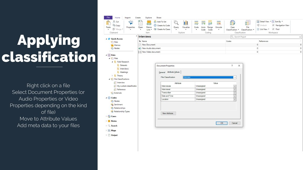 Applying classification Right click on a file S...