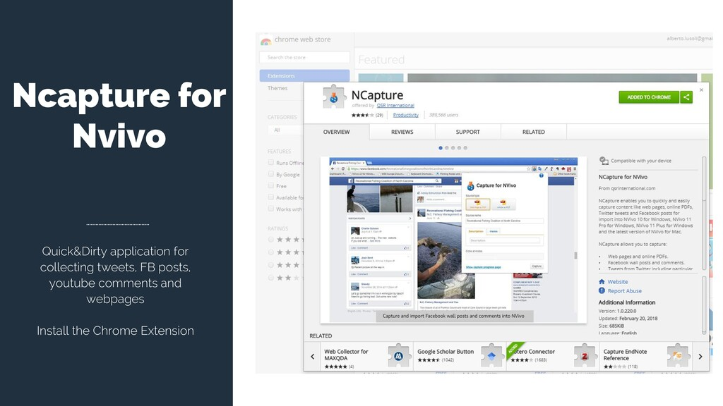 Ncapture for Nvivo Quick&Dirty application for ...