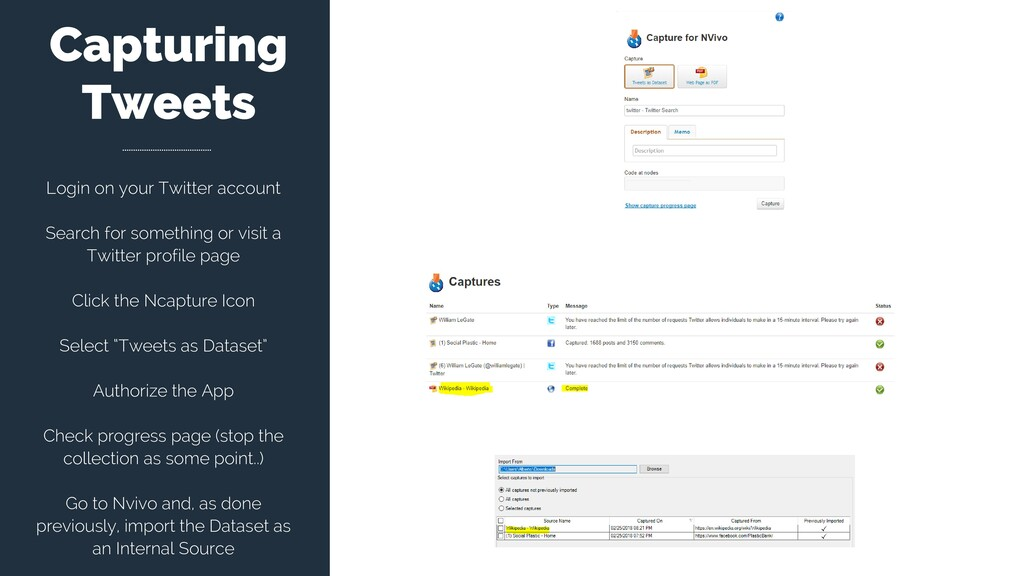 Capturing Tweets Login on your Twitter account ...