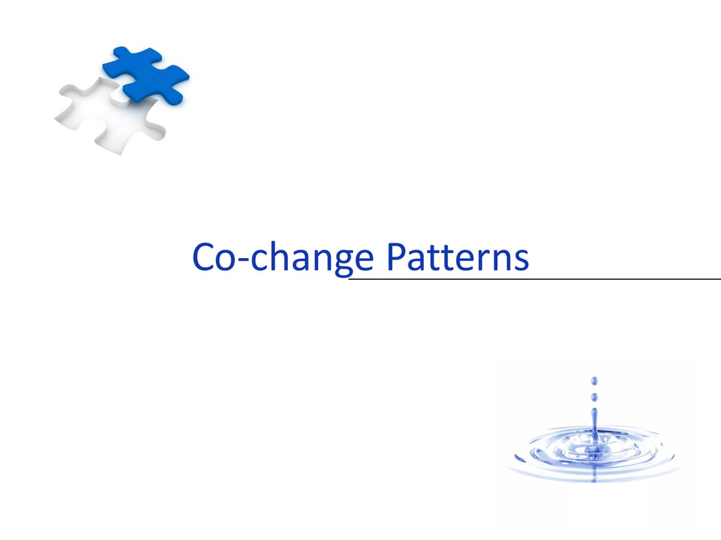 Co-change Patterns