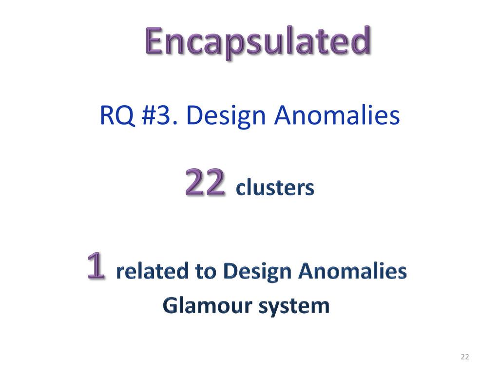 22 RQ #3. Design Anomalies