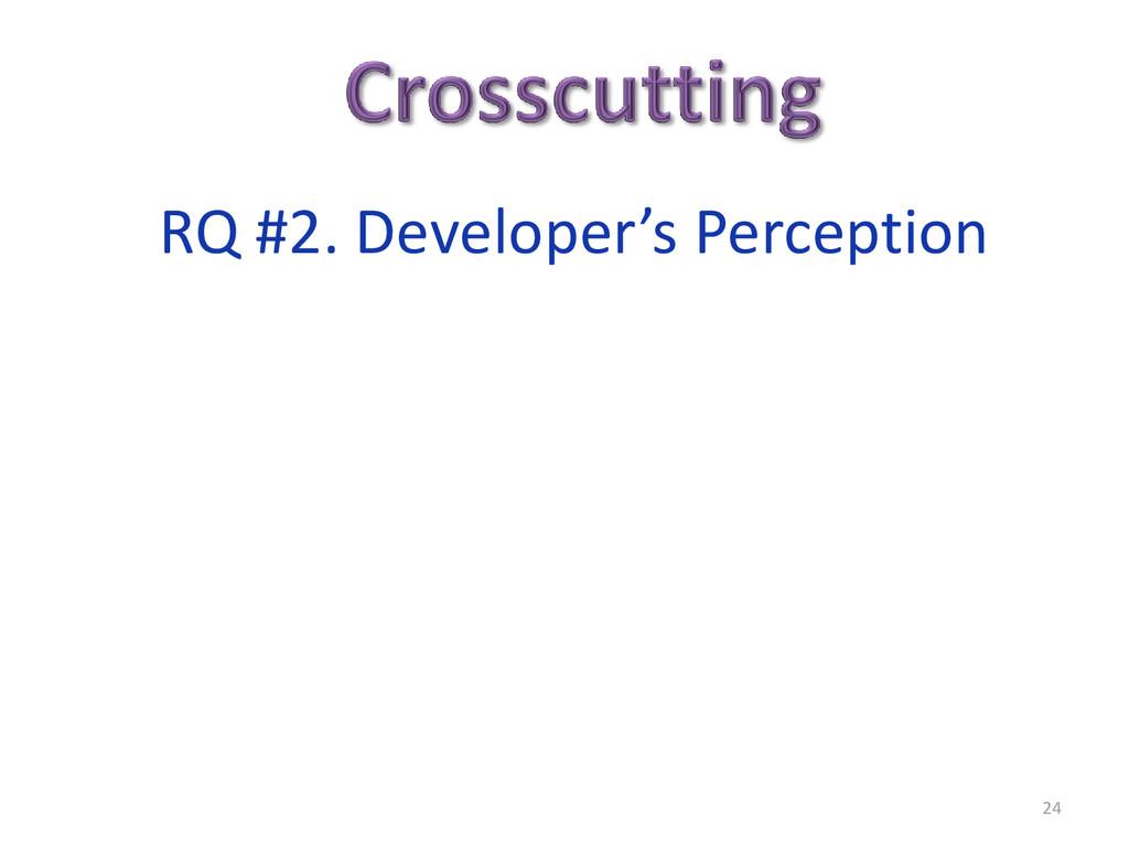 24 RQ #2. Developer's Perception
