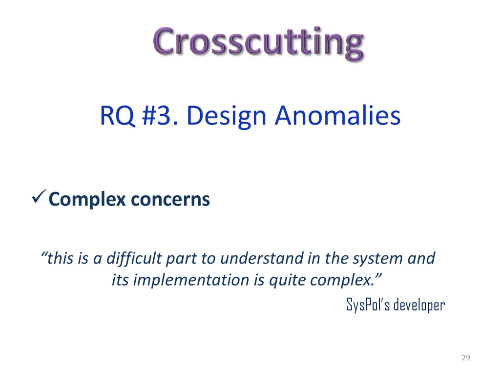 """Complex concerns """"this is a difficult part to ..."""