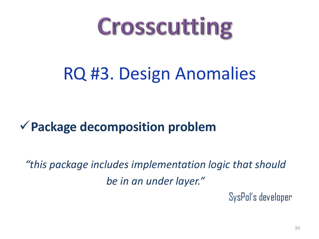 """Package decomposition problem """"this package in..."""