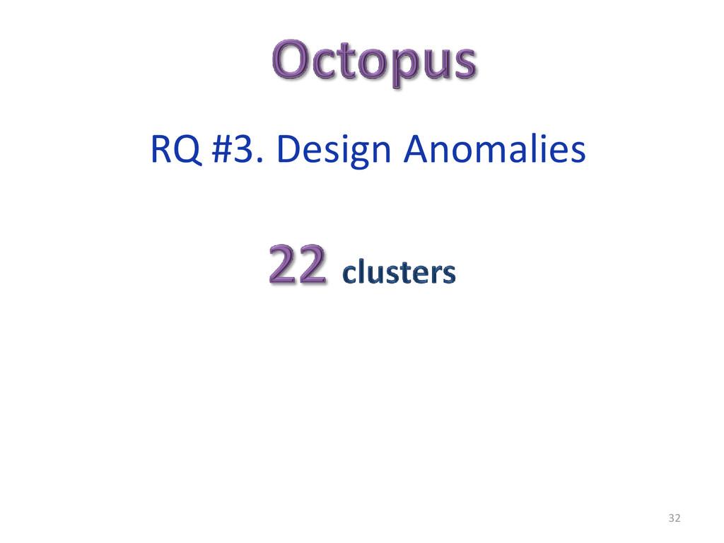 32 RQ #3. Design Anomalies