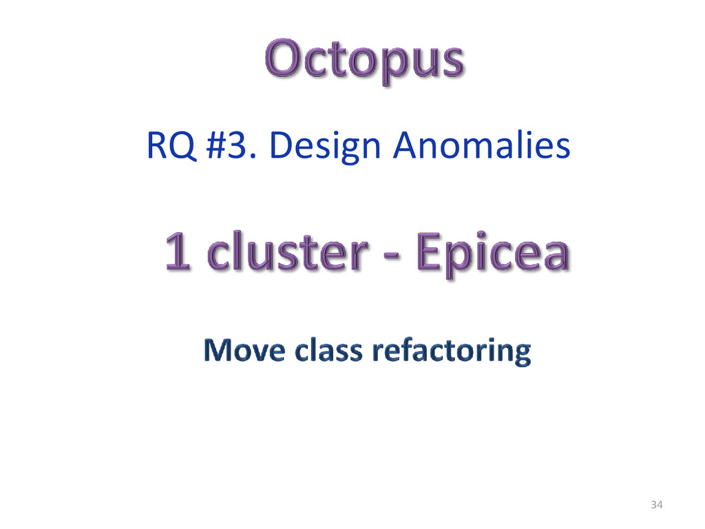 34 RQ #3. Design Anomalies