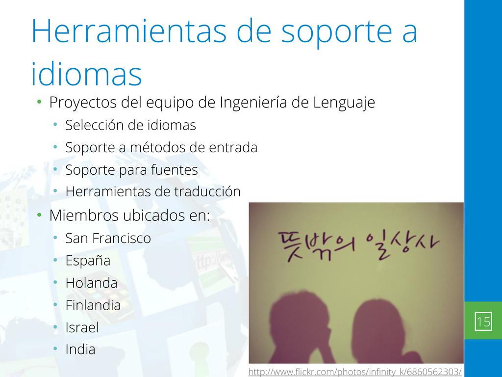 Herramientas de soporte a idiomas • Proyectos d...