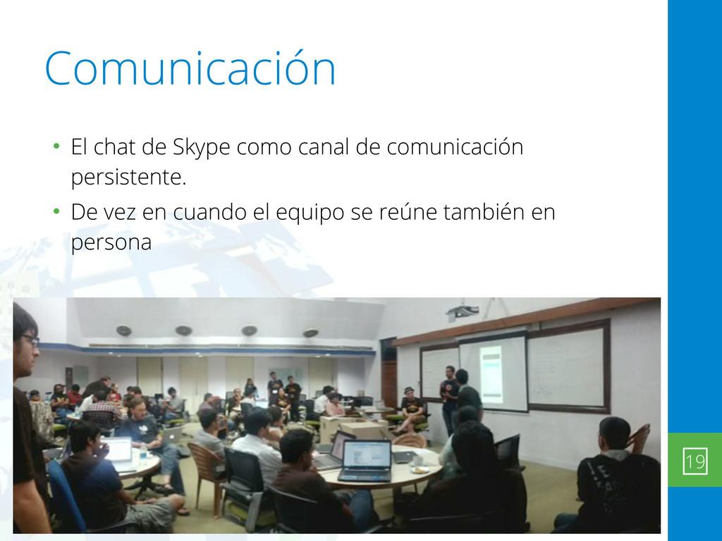 Comunicación • El chat de Skype como canal de c...