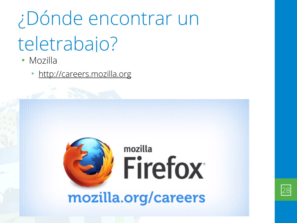 ¿Dónde encontrar un teletrabajo? • Mozilla • ht...