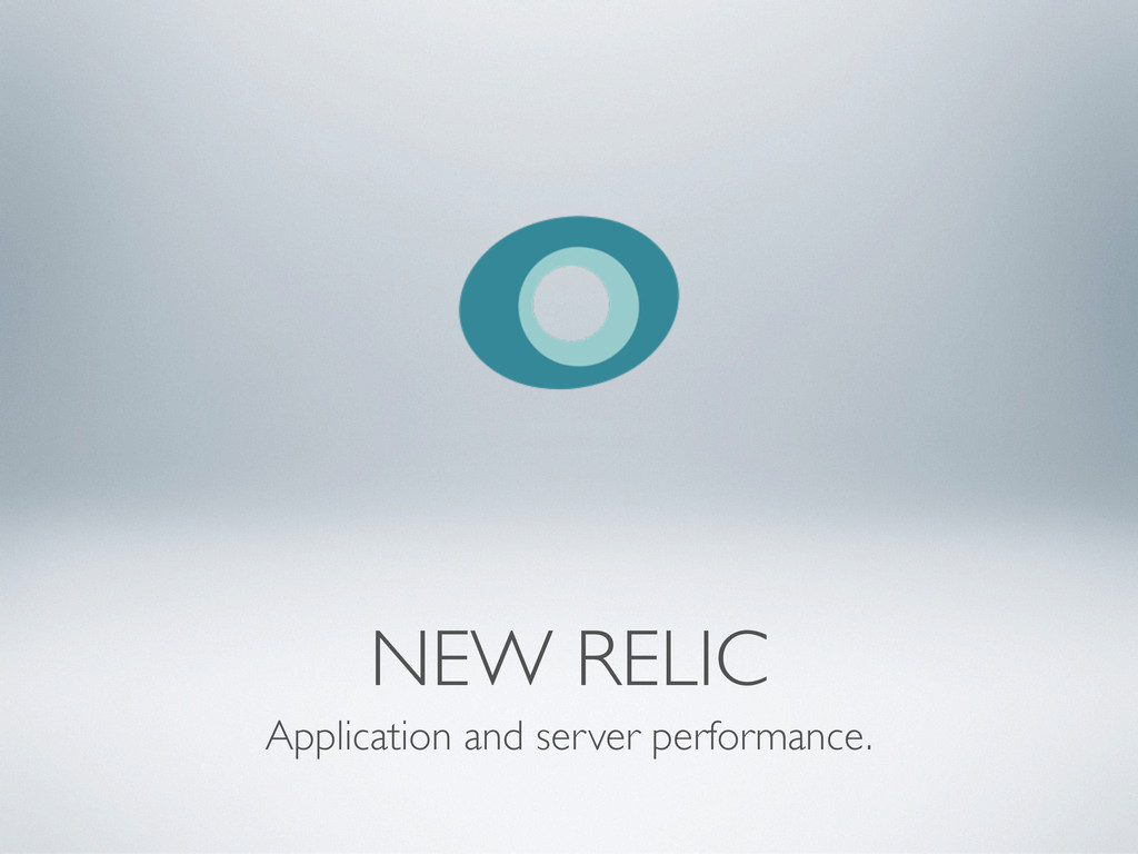 NEW RELIC Application and server performance.