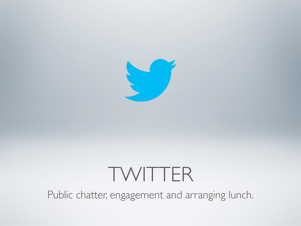 TWITTER Public chatter, engagement and arrangin...