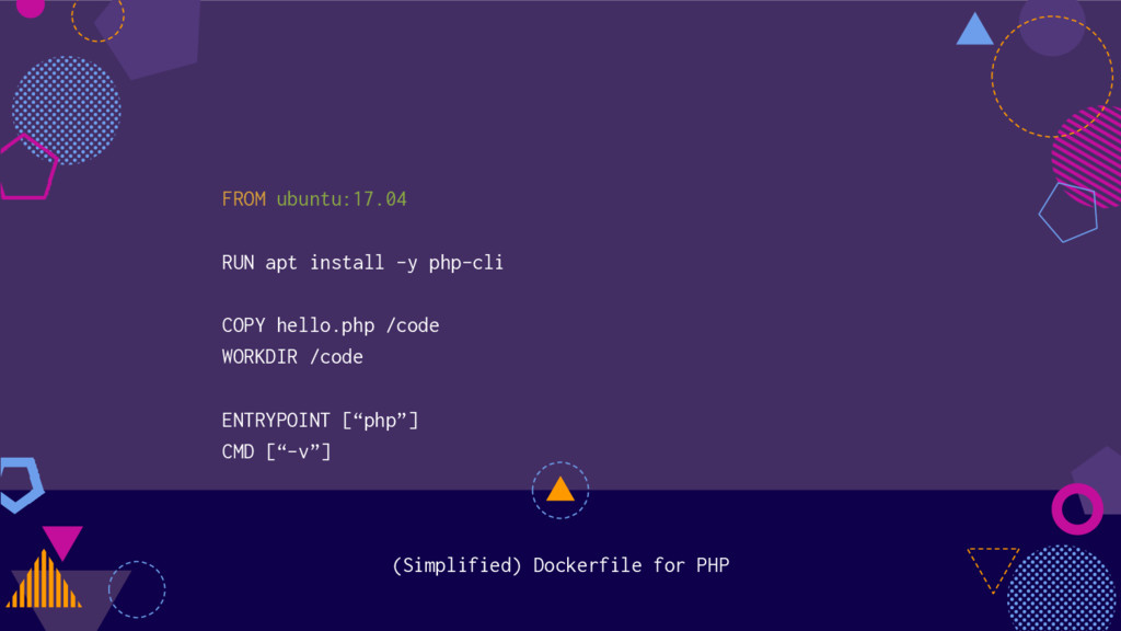 (Simplified) Dockerfile for PHP FROM ubuntu:17....