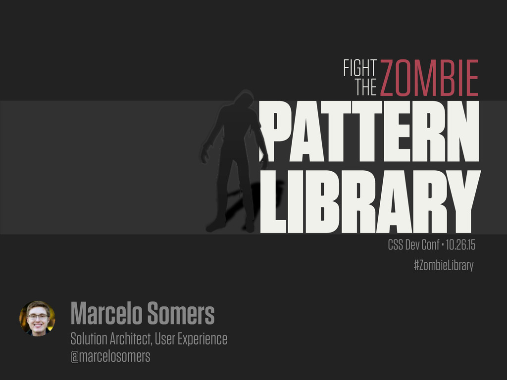 #ZombieLibrary PATTERN LIBRARY ZOMBIE FIGHT THE...