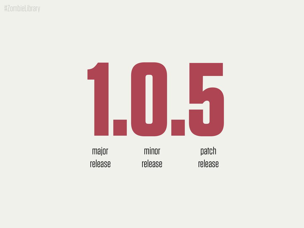 #ZombieLibrary 1.0.5 major release minor releas...