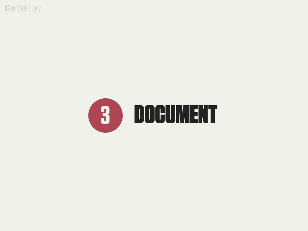 #ZombieLibrary DOCUMENT 3