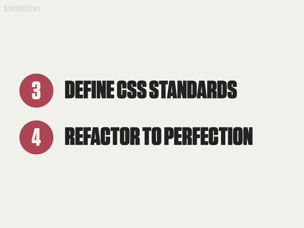 #ZombieLibrary DEFINE CSS STANDARDS 3 REFACTOR ...