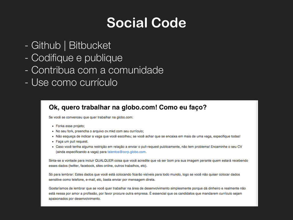 Social Code - Github   Bitbucket - Codifique e ...
