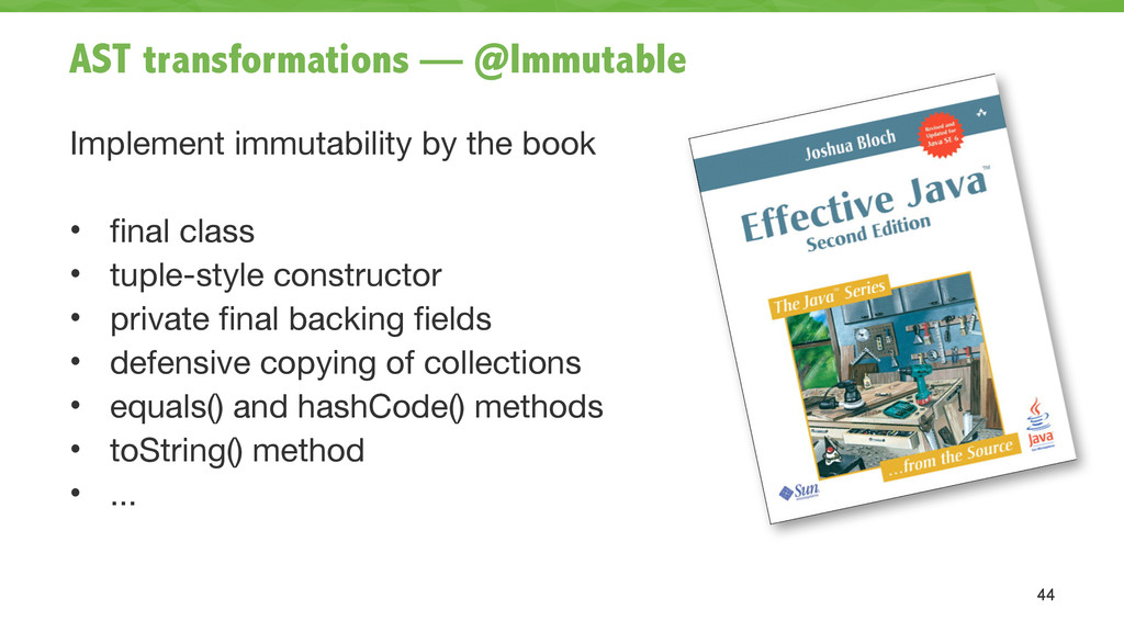AST transformations — @Immutable Implement immu...