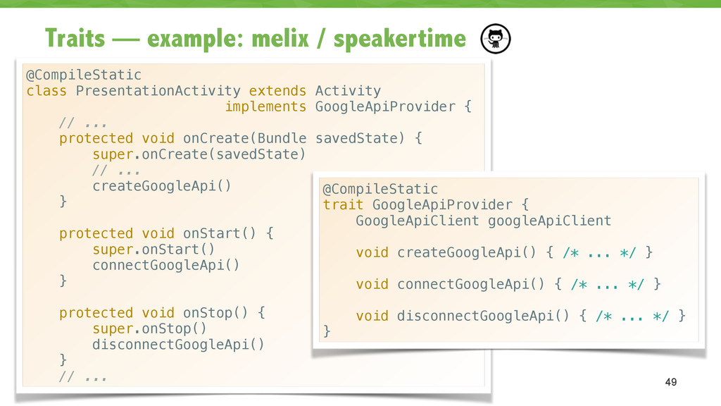 Traits — example: melix / speakertime 49 @Compi...