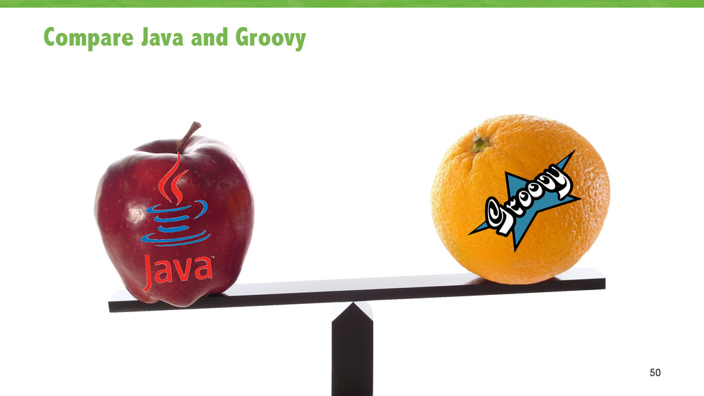 Compare Java and Groovy 50