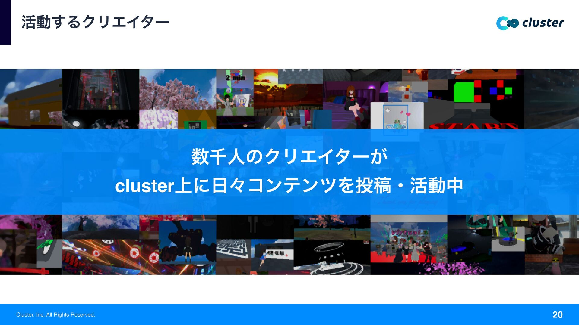 Cluster, Inc. All Rights Reserved. ׆ಈ͢ΔΫϦΤΠλʔ 2...