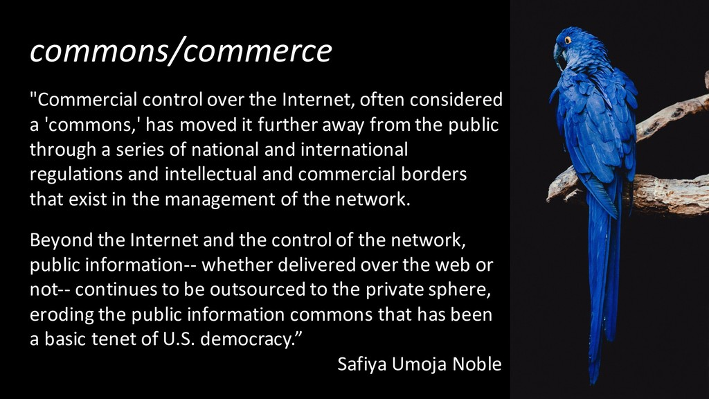 """commons/commerce """"Commercial control over the I..."""