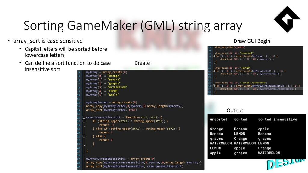 Sorting GameMaker (GML) string array • array_so...