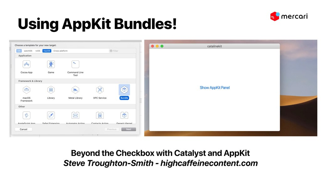 Using AppKit Bundles! Beyond the Checkbox with ...
