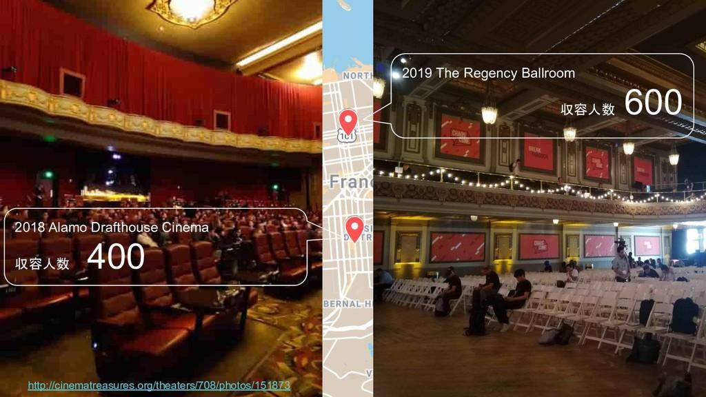 2019 The Regency Ballroom 収容人数 600 2018 Alamo D...