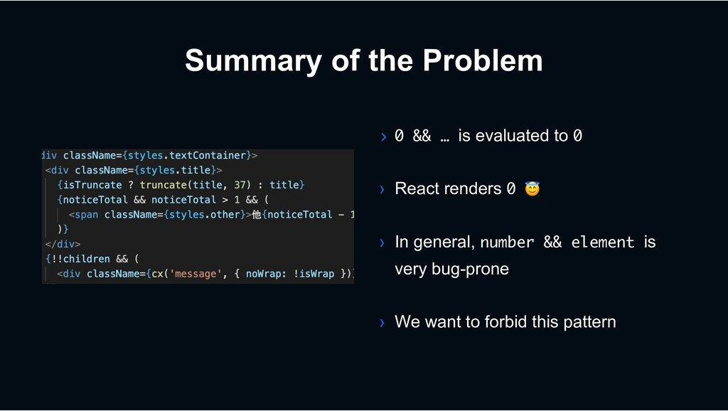 Summary of the Problem › 0 && … is evaluated to...