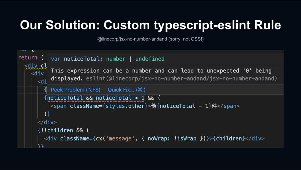 Our Solution: Custom typescript-eslint Rule @li...
