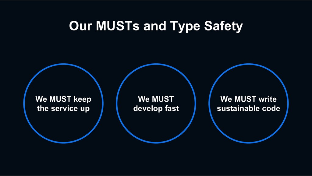 Our MUSTs and Type Safety We MUST keep the serv...