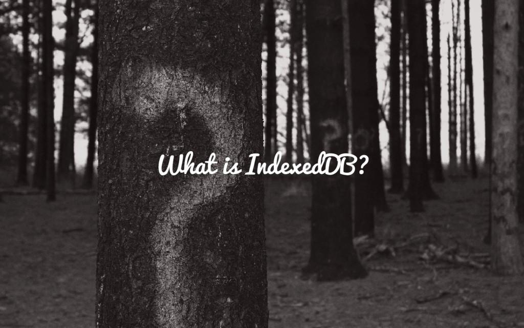 What is IndexedDB?