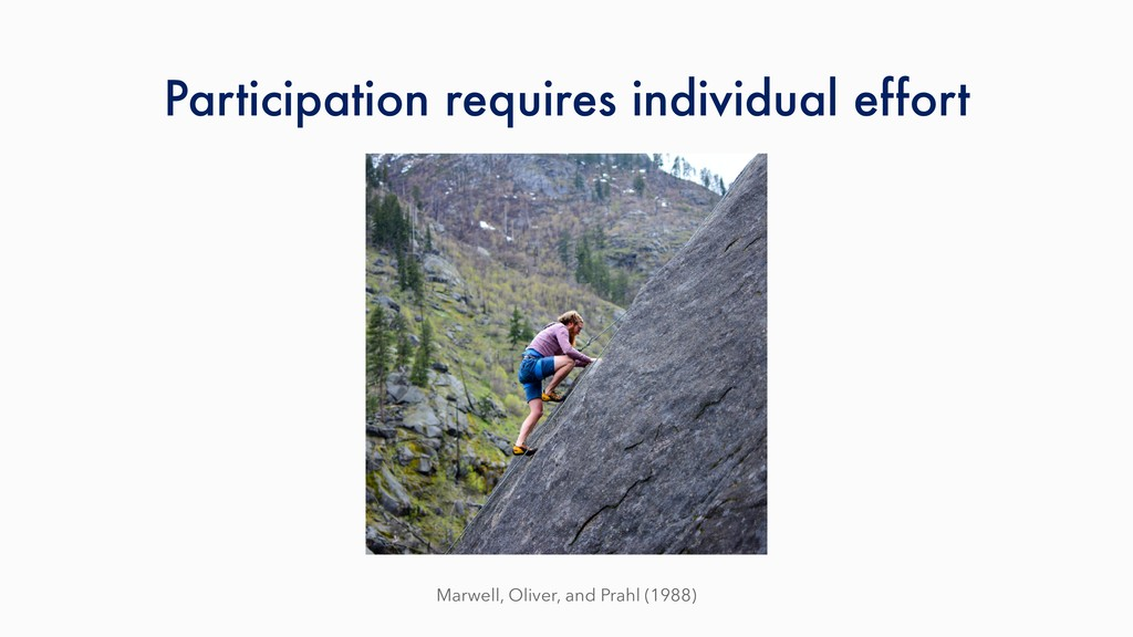 Participation requires individual effort Marwel...