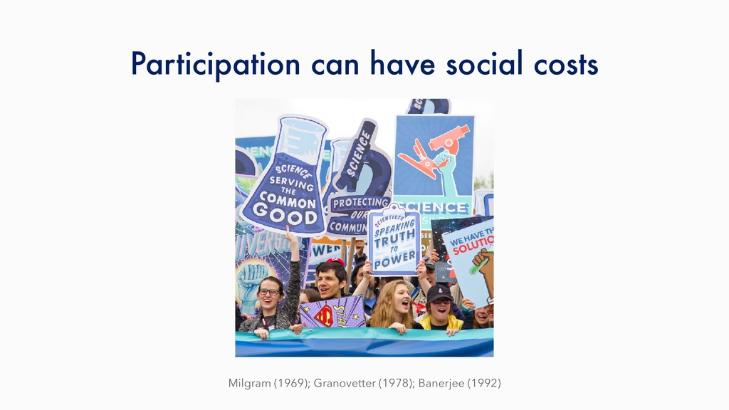 Participation can have social costs Milgram (19...