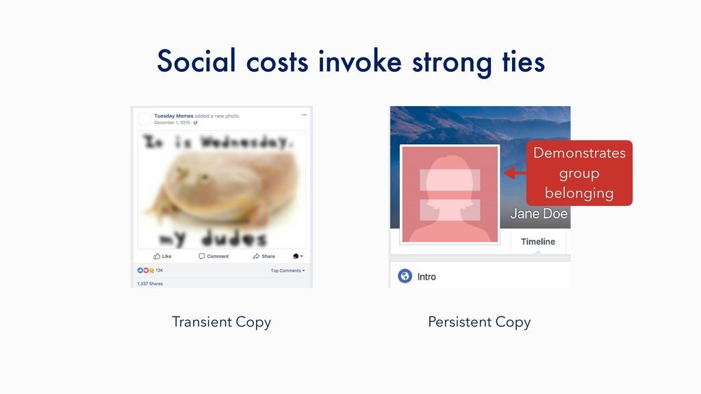 Transient Copy Persistent Copy Social costs inv...