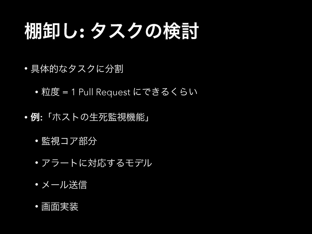 ୨Է͠: λεΫͷݕ౼ • ۩ମతͳλεΫʹׂ • ཻ = 1 Pull Request ...