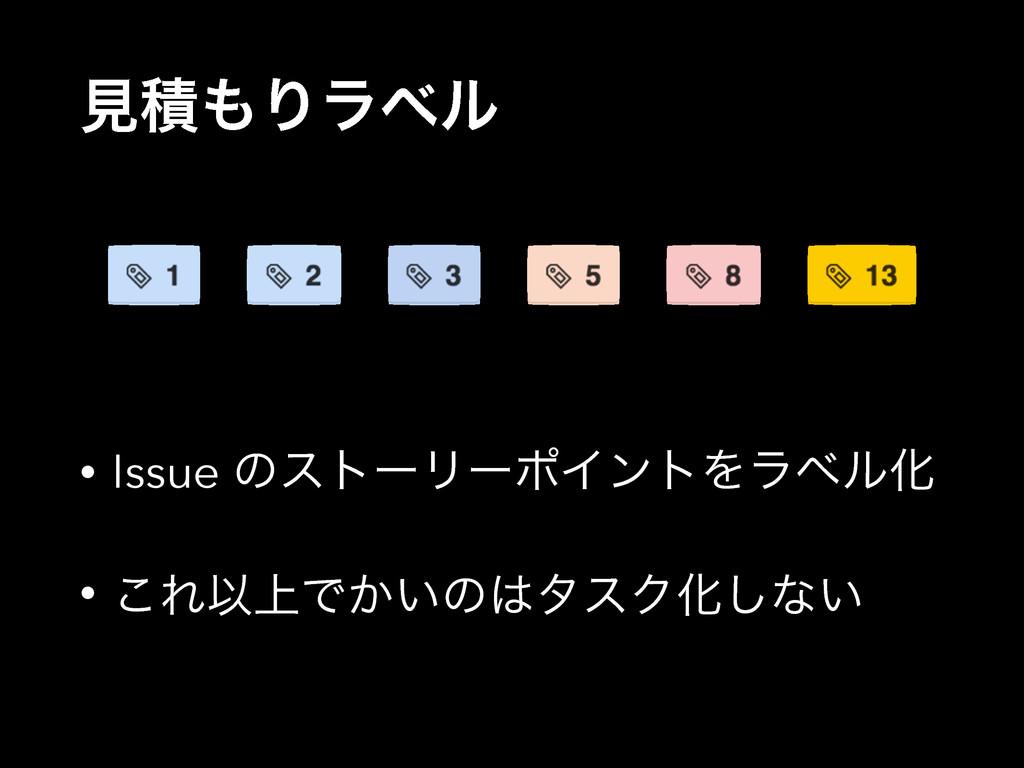 ݟੵΓϥϕϧ • Issue ͷετʔϦʔϙΠϯτΛϥϕϧԽ • ͜ΕҎ্Ͱ͔͍ͷλεΫԽ...