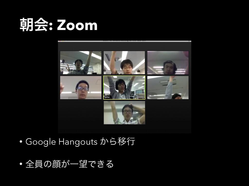 ேձ: Zoom • Google Hangouts ͔ΒҠߦ • શһͷإ͕ҰͰ͖Δ