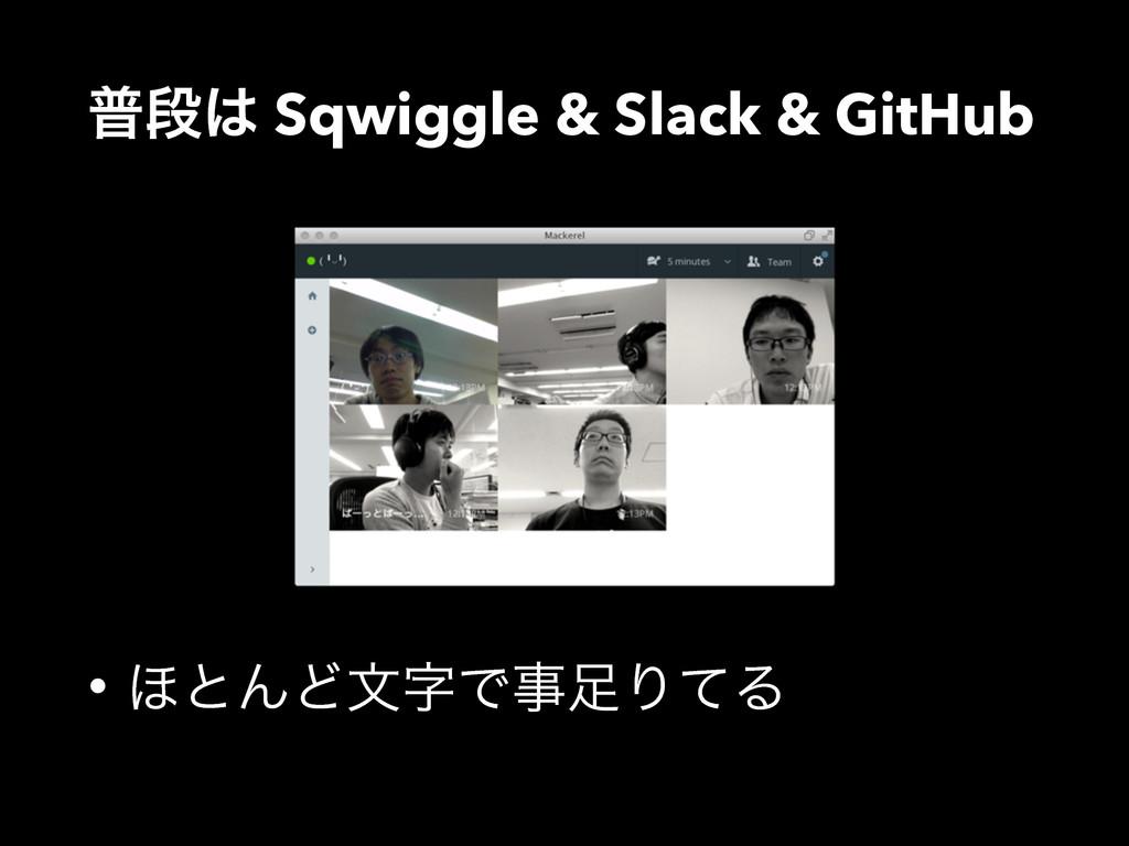 ීஈ Sqwiggle & Slack & GitHub • ΄ͱΜͲจͰΓͯΔ