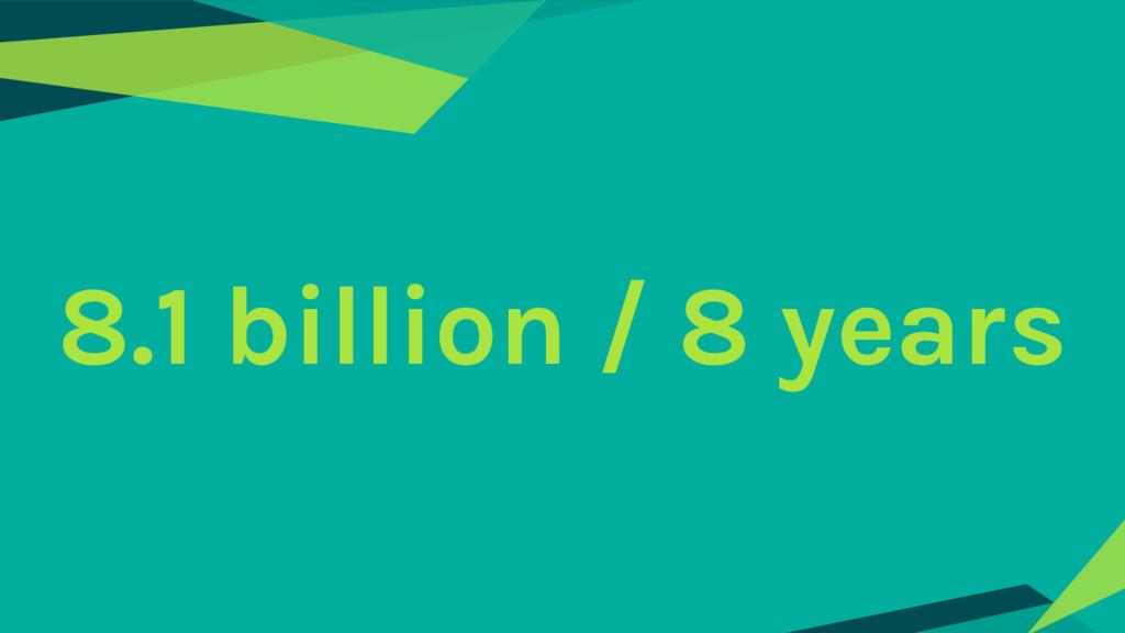 8.1 billion / 8 years
