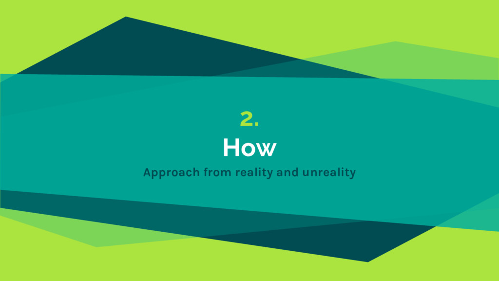 2. How Approach from reality and unreality