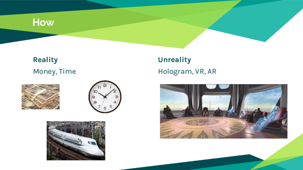 Reality Money, Time How Unreality Hologram, VR,...