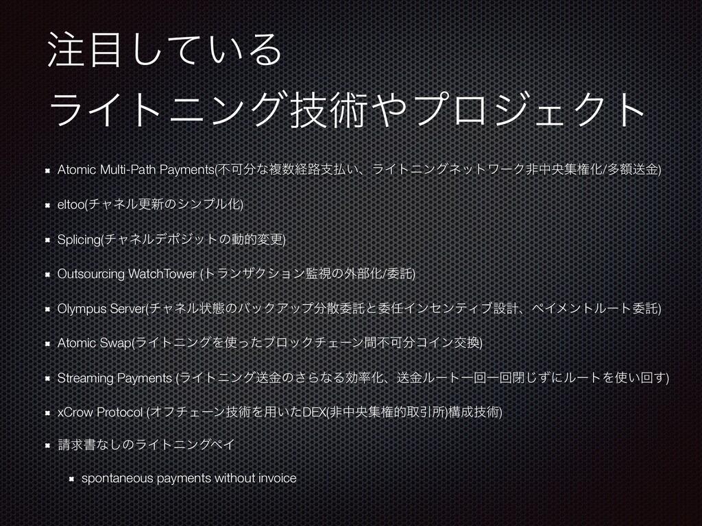 ͍ͯ͠Δ ϥΠτχϯάٕज़ϓϩδΣΫτ Atomic Multi-Path Paymen...